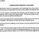 Council's letter. Cambridge Tree Trust